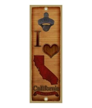I (heart) California - Wood texture them