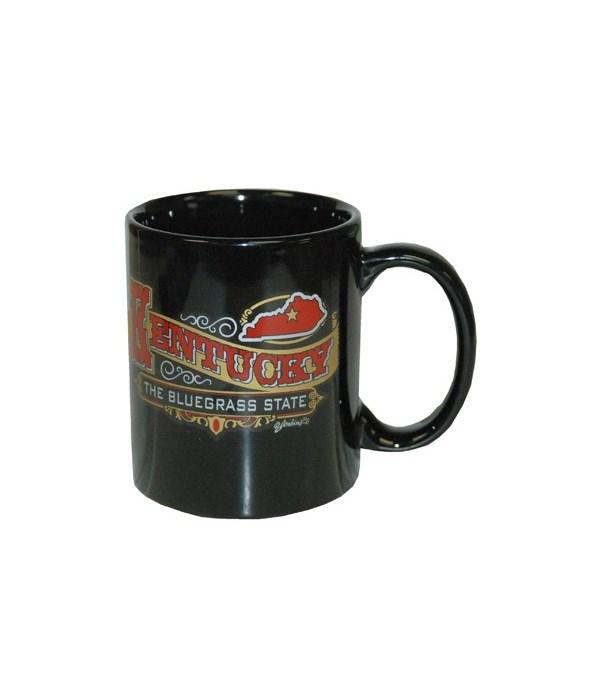 KY Mug Ceramic Black Banner