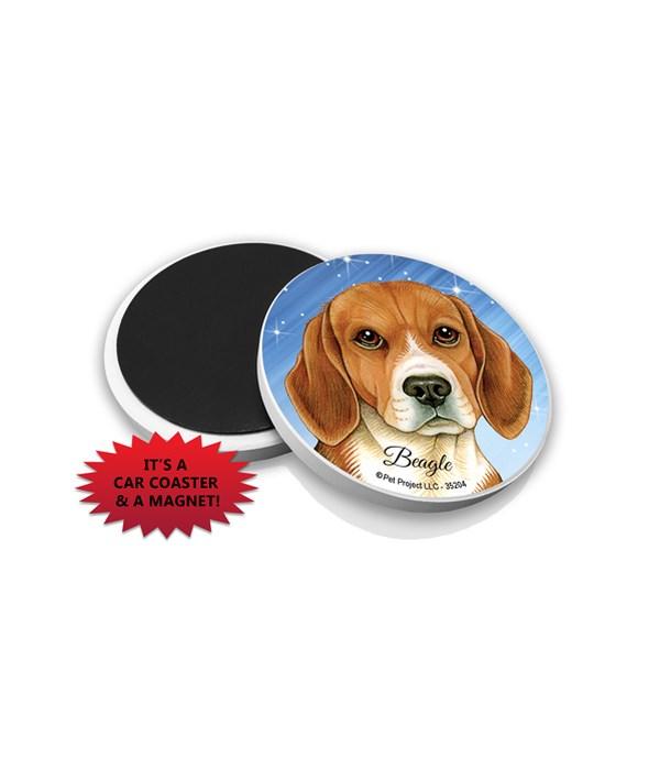 Beagle car coaster /Magnet
