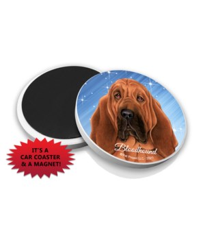 Bloodhound car coaster /Magnet