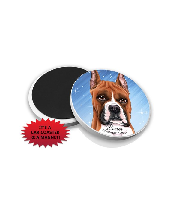 Boxer car coaster /Magnet