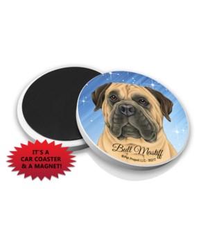 Bull Mastiff car coaster /Magnet