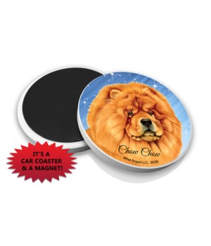 Chow chow car coaster /Magnet