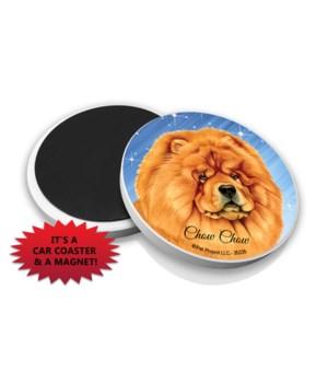 Chow chow car coaster /Magnet