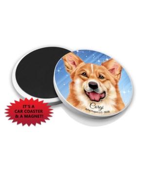 Corgi car coaster /Magnet