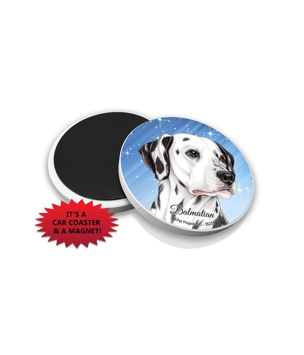 Dalmatian car coaster /Magnet