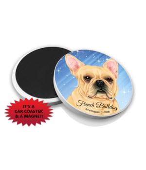 French Bulldog car coaster /Magnet