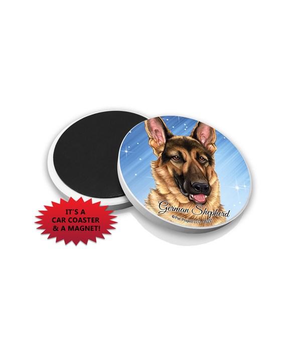 German Shepherd car coaster /Magnet