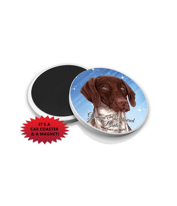 German Shorthaired Pointer car coaster /