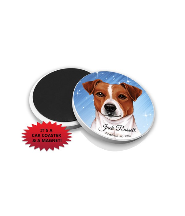 Jack Russell car coaster /Magnet