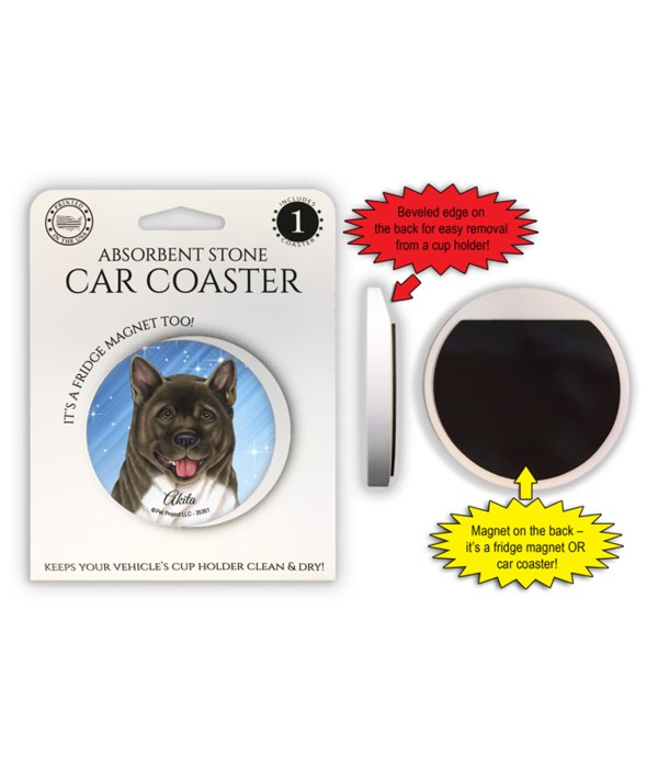 Akita Magnet coaster