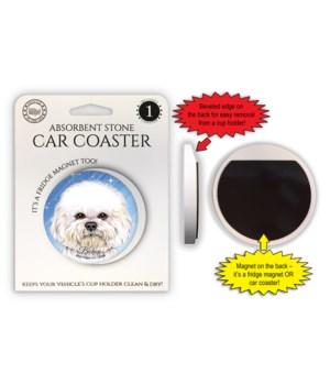 Bichon Magnet coaster