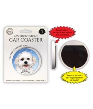 Bichon Frise (puppy cut) Magnet coaster