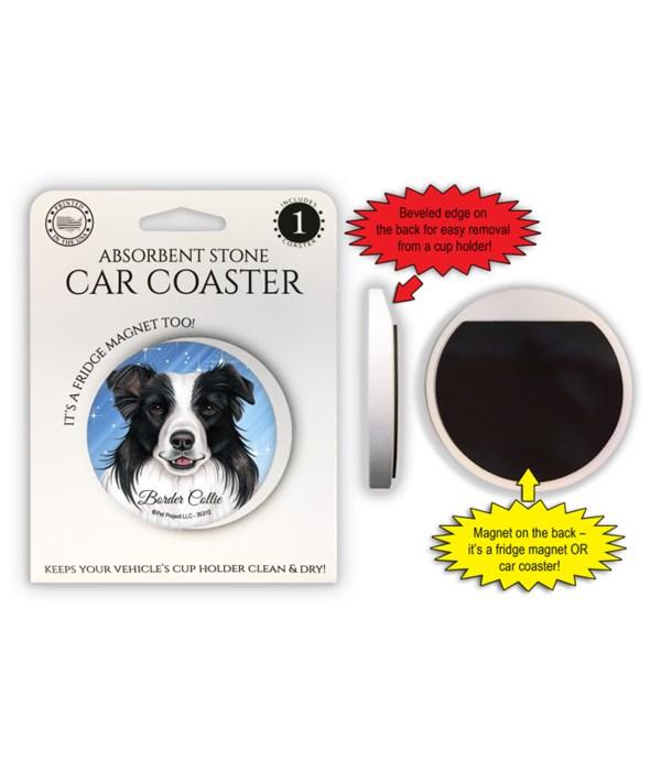 Border Collie Magnet coaster