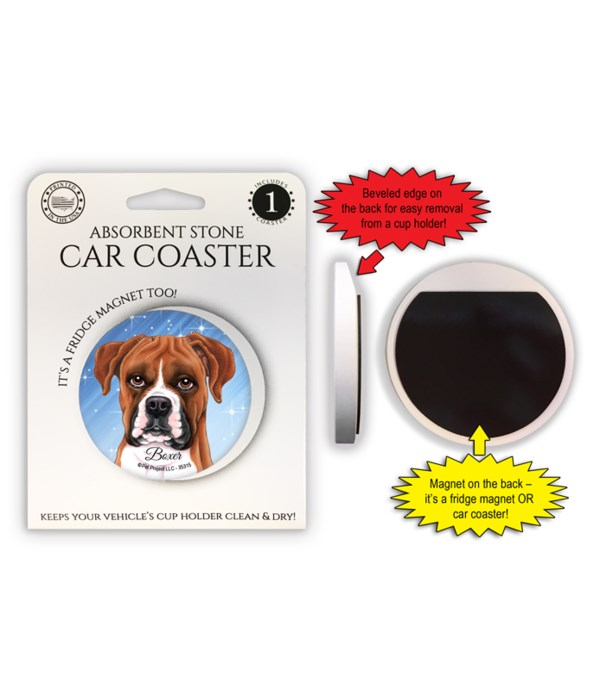 Boxer (uncropped) Magnet coaster
