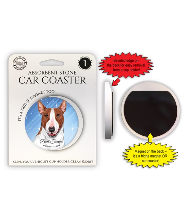 Bull Terrier (Brown and white) Magnet co
