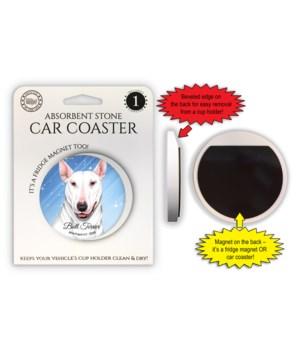 Bull Terrier (White color) Magnet coaste