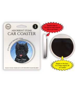 Cairn Terrier (black) Magnet coaster