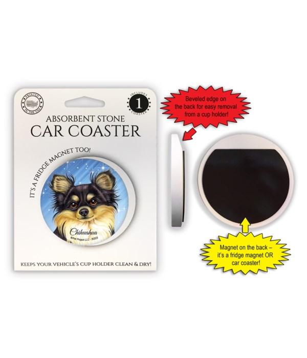 Chihauhua (black and tan) Magnet coaster