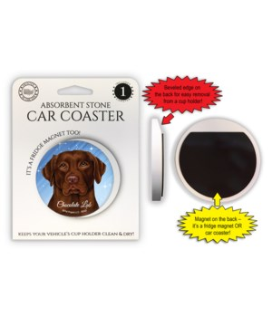 Chocolate Lab Magnet coaster