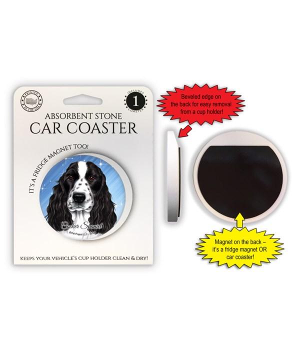 Cocker Spaniel (black & white) Magnet co