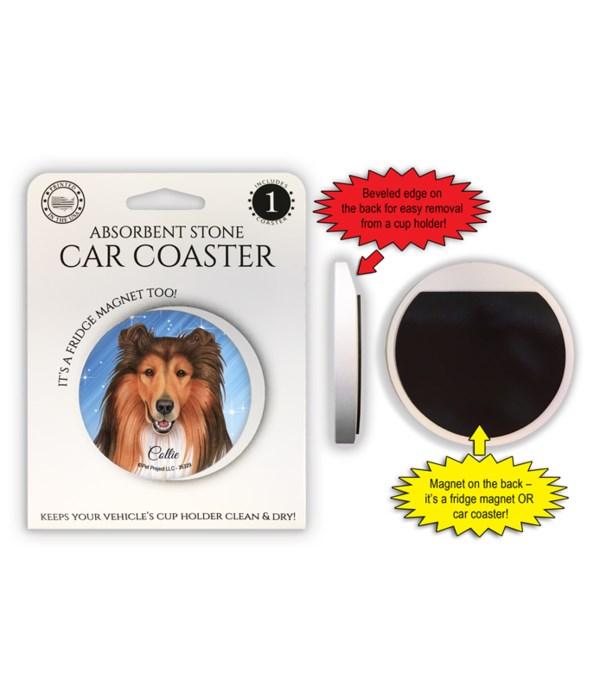 Collie Magnet coaster