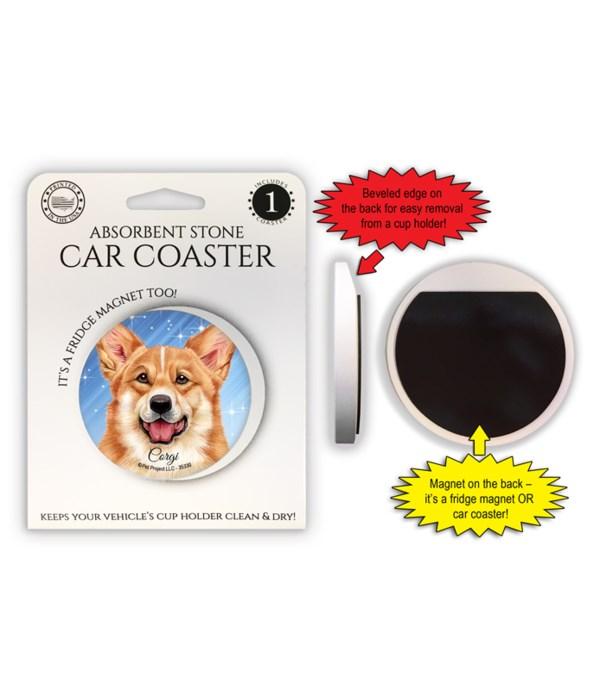 Corgi Magnet coaster