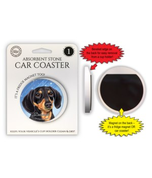 Dachshund (black and tan) Magnet coaster