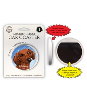 Dachshund (red) Magnet coaster