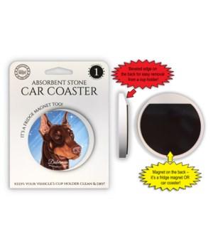 Doberman (Brown) Magnet coaster