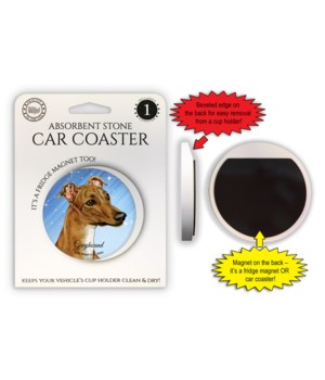 Greyhound (Brown color) Magnet coaster