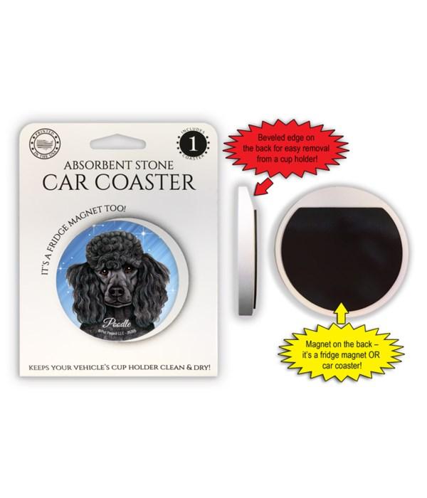 Poodle (black) Magnet coaster