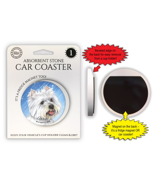 Westie Magnet coaster