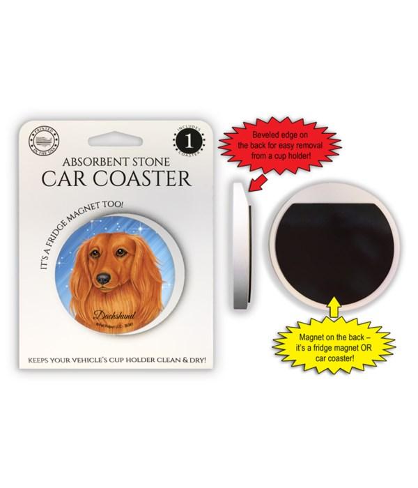Dachshund (Long hair) Magnet coaster