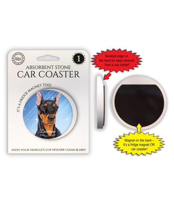 Doberman (Black) Magnet coaster