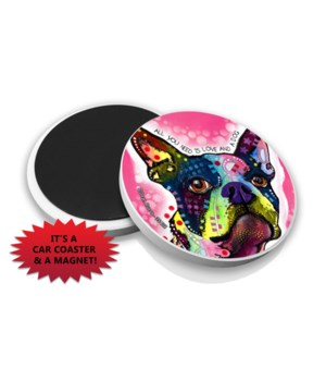 Boston Terrier DR Car Magnet Bulk