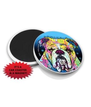 Bulldog DR Car Magnet Bulk