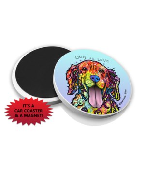 Golden Retriever-Dog  DR Car Magnet Bulk