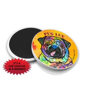 Pug Luv DR Car Magnet Bulk
