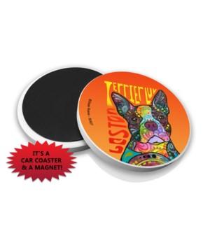 Boston Terrier LUV DR Car Magnet Bulk