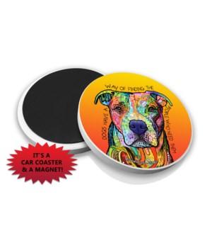 Pitbull-Dogs have a DR Car Magnet Bulk