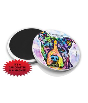 Pitbull-All you need DR Car Magnet Bulk