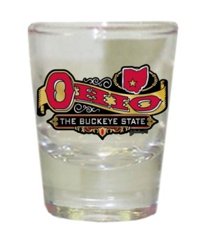 Ohio Shotglass Frosted Banner