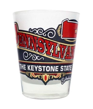 PA Shotglass Frosted Banner