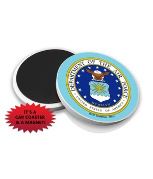 Air Force Car Coaster Magnet