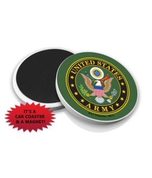 Army Car Coaster Magnet