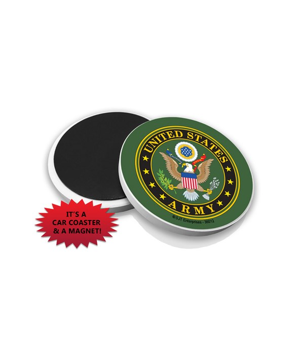 Army Car Coaster Magnet
