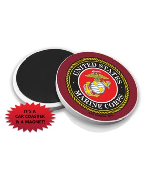Marines Car Coaster Magnet