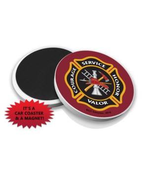 Fire Car Coaster Magnet Bulk