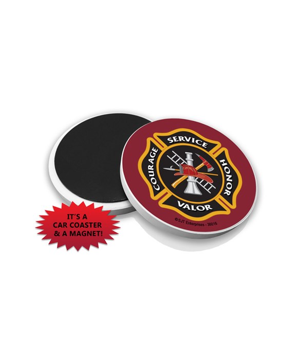 Fire Car Coaster Magnet Bulk